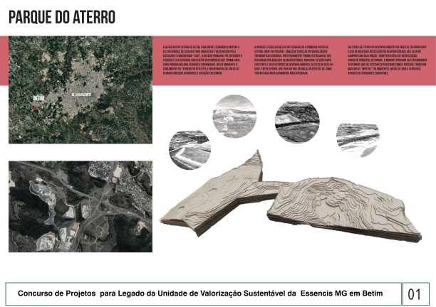 Premiados - Concurso de Estudantes - Parque Urbano em Aterro Sanitário UVS Betim - MG - Quarto Lugar - Prancha 01
