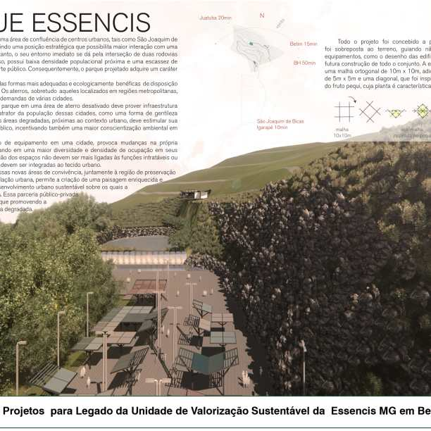 Premiados - Concurso de Estudantes - Parque Urbano em Aterro Sanitário UVS Betim - MG - Segundo Lugar - Prancha 01
