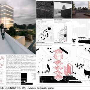 Concurso Museu da Criatividade – Barra Funda – SP - Terceiro Lugar - Prancha 01