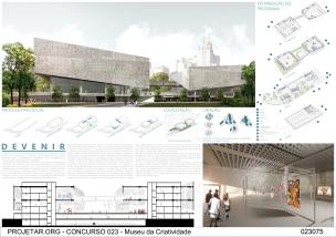 Concurso Museu da Criatividade – Barra Funda – SP - Primeiro Lugar - Prancha 01