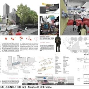 Concurso Museu da Criatividade – Barra Funda – SP - Menção Honrosa - Equipe 023104 - Prancha 01