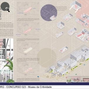 Concurso Museu da Criatividade – Barra Funda – SP - Menção Honrosa - Equipe 023264 - Prancha 01