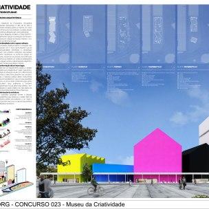 Concurso Museu da Criatividade – Barra Funda – SP - Menção Honrosa - Equipe 023308 - Prancha 01