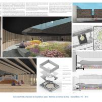 Premiados - Concurso Público Nacional de Arquitetura para o Memorial às Vítimas da Kiss - Primeiro Lugar - Prancha 01