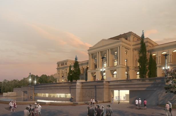 Projeto Vencedor - Concurso para o Restauro e Modernização do Museu Paulista em São Paulo - Imagem 03 - Novo Acesso