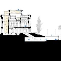 Concurso para o Restauro e Modernização do Museu Paulista em São Paulo - Primeiro Lugar - Imagem 29 - Corte Conexão Central