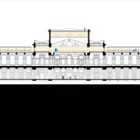 Concurso para o Restauro e Modernização do Museu Paulista em São Paulo - Primeiro Lugar - Imagem 30 - Corte Longitudinal