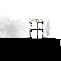 Concurso para o Restauro e Modernização do Museu Paulista em São Paulo - Primeiro Lugar - Imagem 31 - Corte Conexão Longitudinal
