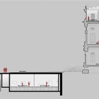Concurso para o Restauro e Modernização do Museu Paulista em São Paulo - Terceiro Lugar - Imagem 27 - Corte BB