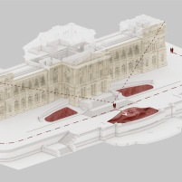 Concurso para o Restauro e Modernização do Museu Paulista em São Paulo - Terceiro Lugar - Imagem 16 - Diagrama de Átrios