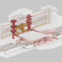 Concurso para o Restauro e Modernização do Museu Paulista em São Paulo - Terceiro Lugar - Imagem 09 - Diagrama de Circulação