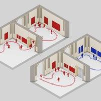 Concurso para o Restauro e Modernização do Museu Paulista em São Paulo - Terceiro Lugar - Imagem 15 - Diagrama de Salas Expositivas Existentes