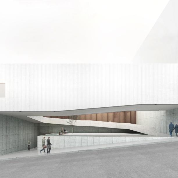Premiados - Concurso Público Nacional de Arquitetura para o Memorial às Vítimas da Kiss - Menção Honrosa - Imagem 01