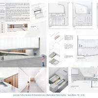 Premiados - Concurso Público Nacional de Arquitetura para o Memorial às Vítimas da Kiss - Menção Honrosa - Prancha 01