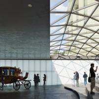 Concurso para o Restauro e Modernização do Museu Paulista em São Paulo - Terceiro Lugar - Imagem 02 - Conexão com o edifício Monumento