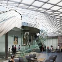 Concurso para o Restauro e Modernização do Museu Paulista em São Paulo - Terceiro Lugar - Imagem 03 - Perspectiva Hall