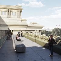 Concurso para o Restauro e Modernização do Museu Paulista em São Paulo - Terceiro Lugar - Imagem 08 - Terraço Mirante