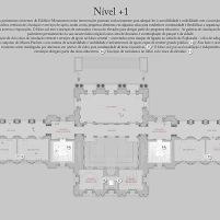 Concurso para o Restauro e Modernização do Museu Paulista em São Paulo - Terceiro Lugar - Imagem 23 - Planta Baixa Nível +1