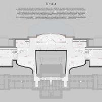 Concurso para o Restauro e Modernização do Museu Paulista em São Paulo - Terceiro Lugar - Imagem 26 - Planta Baixa Nível -1