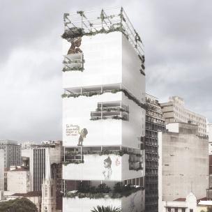Premiados - Concurso de Ideias para Estudantes - Habitação Social no Largo do Paissandú - Segundo Lugar - Imagem 01