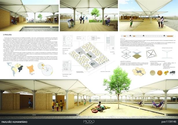 Premiados - Concurso de Ideias para o  Pavilhão Humanitário - Boa Vista - Roraima - Primeiro Lugar - Prancha 01