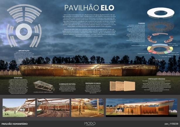 Premiados - Concurso de Ideias para o  Pavilhão Humanitário - Boa Vista - Roraima - Menção Honrosa - Prancha 01