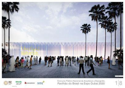 Pavilhao do Brasil - Dubai 2020 - Terceiro Lugar - Prancha 1