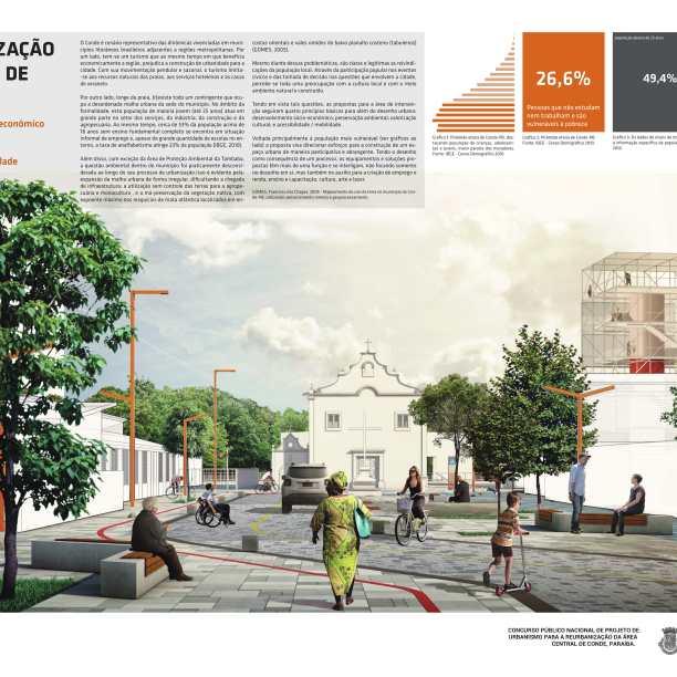 Premiados - Reurbanização no Centro de Conde - Paraíba - Menção Honrosa - Prancha 01