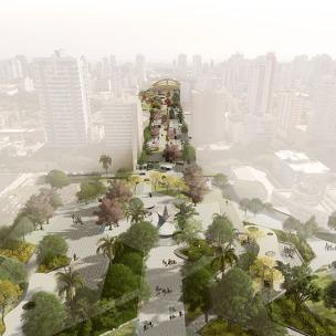 Premiados - Concurso Nacional - Eixo Monumental de Maringá - Primeiro Lugar - Imagem 01