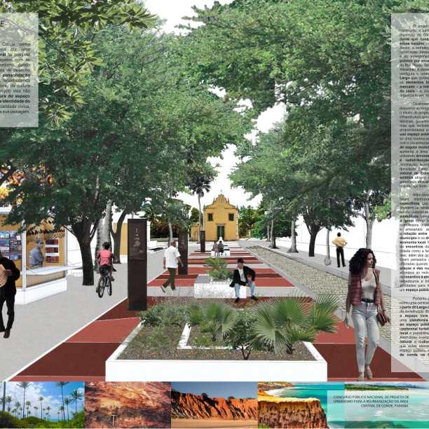Premiados - Reurbanização no Centro de Conde - Paraíba - Segundo Lugar - Prancha 01