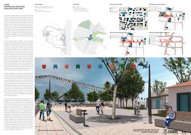 Premiados - Reurbanização no Centro de Conde - Paraíba - Terceiro Lugar - Prancha 01