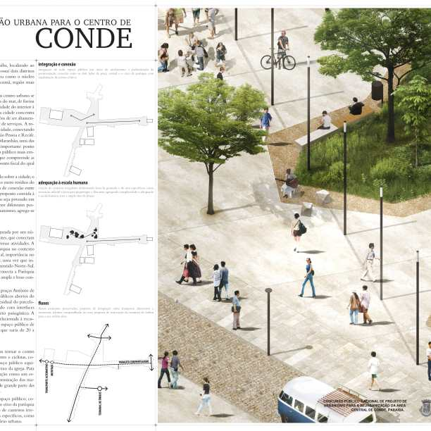 Premiados - Reurbanização no Centro de Conde - Paraíba - Primeiro Lugar - Prancha 01